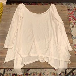Oversized Free People Waffle Knit Top